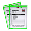 C-Line Products Neon Shop Ticket Holders, Green, Stitched, Both Sides Clear, 9 x 12 CLI 43913