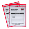 C-Line Products Neon Shop Ticket Holders, Red, Stitched, Both Sides Clear, 9 x 12 CLI 43914
