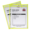 C-Line Products Neon Shop Ticket Holders, Yellow, Stitched, Both Sides Clear, 9 x 12 CLI 43916