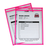 C-Line Products Neon Shop Ticket Holders, Pink, Stitched, Both Sides Clear, 9 x 12 CLI 43919