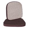 C-Line Products Chair Cushion, 2, Brown, 17 1/2 x 18 CLI 55512