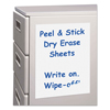 C-Line Products Peel & Stick Dry Erase Sheets, 11 X 8 1/2 CLI 57911