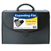 C-Line Products 21-Pocket Legal Size Expanding File w/Handle, Black CLI 58320