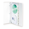 C-Line Products Deluxe CD Ring Binder Storage, Standard w/Index Tabs, Stores 4 CDs CLI61918BNDL3PK
