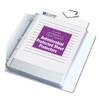 C-Line Products Heavyweight Polypropylene Sheet Protectors, Antimicrobial, Clear, 11 x 8 1/2 CLI 62033