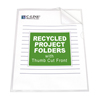 C-Line Products Recycled Project Folders, Clear - Reduced Glare CLI 62127BNDL3BX