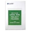 C-Line Products Recycled Project Folders, Clear, Reduced Glare, Legal Size CLI 62129BNDL2BX