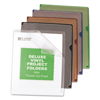 C-Line Products Deluxe Vinyl Project Folders w/Colored Backs CLI 62150