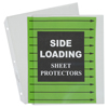 C-Line Products Side Loading Polypropylene Sheet Protectors, Clear, 11 x 8 1/2 CLI 62313BNDL2BX