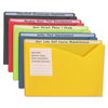 C-Line Products Write-on Poly File Jackets, Assorted, 11 X 8 1/2 CLI 63060