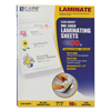 C-Line Products Heavyweight Cleer Adheer Laminating Sheets, Clear, 9 x 12 CLI 65001