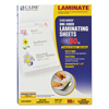 C-Line Products Cleer Adheer Laminating Film w/Antimicrobial Protection, 9 x 12 CLI 65009