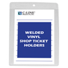 C-Line Products Vinyl Shop Ticket Holders, Both Sides Clear, 4 x 6 CLI 80046