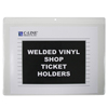 C-Line Products Shop Ticket Holders, Welded Vinyl, Both Sides Clear, Open Long Side, 12 X 9 CLI 80129
