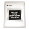 C-Line Products Vinyl Shop Ticket Holders, Both Sides Clear, 8 1/2 x 11 CLI 80911