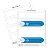 C-Line Products Inkjet/Laser Cardstock Name Tents, Scored, Embossed, White, Medium CLI 87587