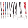C-Line Products Neck Lanyard, Breakaway w/Split Ring, Black CLI 88111