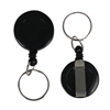 C-Line Products Retracting ID Card Reels, Belt Clip w/Split Ring, Black CLI 89241BNDL12EA