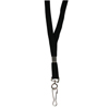 C-Line Products Flat Lanyard, Swivel Hook, Black CLI 89301BNDL100EA