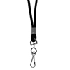 C-Line Products Standard Lanyard, Swivel Hook, Black CLI 89311BNDL48EA