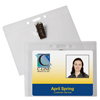 C-Line Products ID Badge Holders, Horizontal w/Clip, 4 x 3 CLI 89543