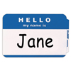 C-Line Products Pressure Sensitive Badges, HELLO my name is, Blue, 3 1/2 x 2 1/4 CLI 92235BNDL10BX