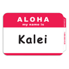 C-Line Products Pressure Sensitive Badges, ALOHA, Red, 3 1/2 x 2 1/4 CLI 92254BNDL10BX