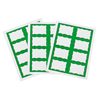 C-Line Products Laser Printer Name Badges, Green Border , 8/Sheet, 3 3/8 x 2 1/3 CLI 92363