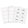 C-Line Products Laser Printer Name Badges, White, 8/Sheet, 3 3/8 x 2 1/3 CLI92377