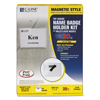 C-Line Products Magnetic Style Name Badge Kit, Clear, 4 x 3 CLI 92943