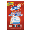 cleaning chemicals, brushes, hand wipers, sponges, squeegees: Clorox® Triple Action Dust Wipes