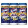 cleaning chemicals, brushes, hand wipers, sponges, squeegees: Clorox® Disinfecting Wipes with Micro-Scrubbers