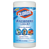 cleaning chemicals, brushes, hand wipers, sponges, squeegees: Disinfecting Wipes, 7 x 8, Fragrance-Free, 75 Wipes/Canister, 6/Carton