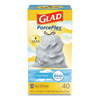double markdown: Glad® OdorShield Kitchen Drawstring Bags, Fresh Clean, 13 gal, White