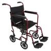 "Rehabilitation: Compass Health Brands - ProBasics® 19"" Lightweight Aluminum Transport Wheelchair, Burgundy"