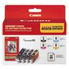 Canon Canon 0628B027 Inks  Paper Pack, PGI-5, CLI-I8, Black; Cyan, Magenta, Yellow CNM0628B027