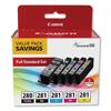 Canon Canon® PGI-280/CLI-281 5-Color Pack CNM 2075C006