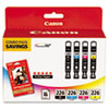 Canon Canon 4546B007AA Ink  Paper Combination, (CLI-226), Black, Cyan, Magenta, Yellow CNM 4546B007AA
