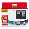 Imaging Supplies and Accessories: Canon 5206B005 (PG-240, CL-241XL) High-Yld ChromaLife 100 Ink, Black, Tri-Color, 2/Pk