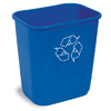 waste receptacles: Continental - Rectangular Recycling Wastebaskets