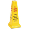 Continental Yellow 35-Inch Four-Sided Caution Sign CON 222YW-CS