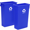 Continental Wall Hugger™ Recycling Containers with Handles CON H8322-1-CS