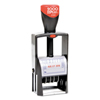 Consolidated Stamp Self-Inking Heavy-Duty Line Dater with Microban, 1.25 x 1.8125, Red/Blue COS 032880