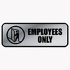 Cosco COSCO Brushed Metal Office Sign COS 098206