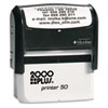 Consolidated Stamp 2000 PLUS® Self-Inking Custom Message Stamp with Microban COS 1SI50P