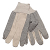 Safety Zone Mens Cotton Canvas Gloves w/PVC Dots SFZ GCD8-MN-1C