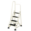 "Cramer Cramer® Four-Step ""Stop-Step"" Aluminum Ladder with Handrail CRA 1041L19"