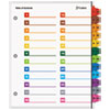 Cardinal Brands Cardinal® OneStep® Printable Table of Contents and Dividers - Double Column CRD 60960