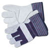 Safety-zone-leather-gloves: Split Leather Palm Gloves, Small, Gray, Pair