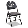 Cosco Bridgeport™ Fanfare™ Fabric Padded Seat Deluxe Molded Back Folding Chair CSC 36875KNB4